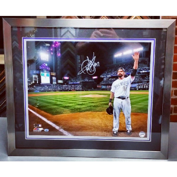 Todd Helton Autographed Picture 5