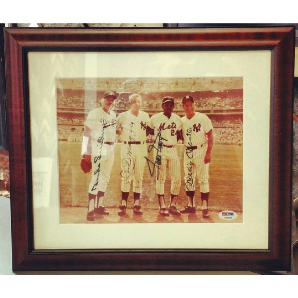 Baseball All Stars Autographed Picture