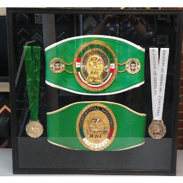 Youth World Champion and Continental Americas WBC Champion Belts and Medals