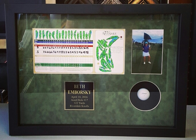 Hole In One Golf Picture Frame Denver