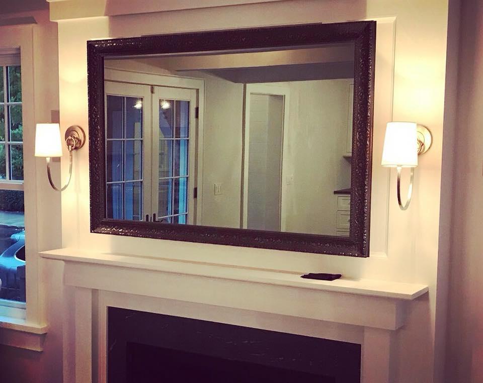 Two Way Mirror Flat Screen Tv Framing